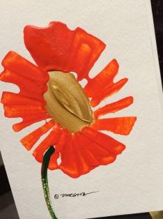 handpainted flower