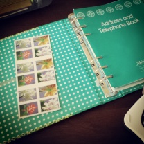Address Book + Stamps