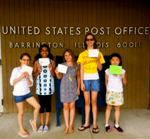 Check out those smiles-- and those handwritten letters!